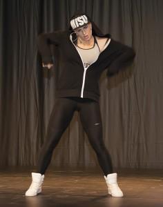 Tavastian Michaela Madesen sai yleisön mukaan hip hop-esityksellään
