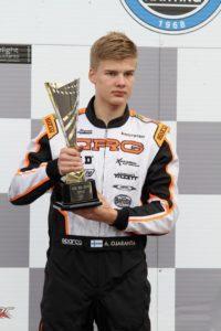 Arto Ojaranta voitti SM-pronssia kartingissa.