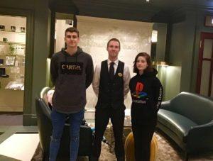 Joao Dylan Costa, Head WaiterAki Huotari and Andreia Frausto Hotel Kämpissa.