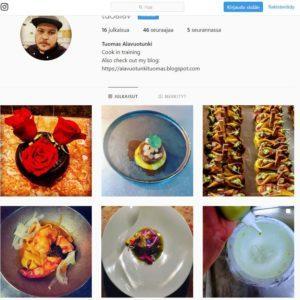 Kokkikillan opiskelijan ammatillinen Instagram-tili